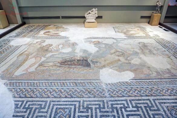 mosaico di dioniso e arianna al museo archeologico di salonicco