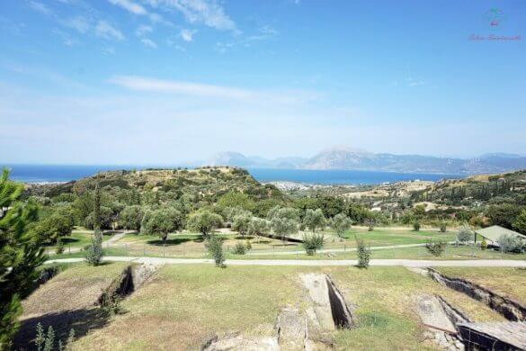 panorama dal cimitero di voudoni