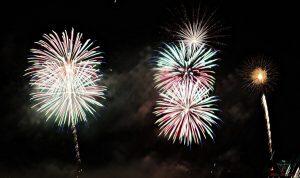 fuochi d'artificio sull'isola comacina