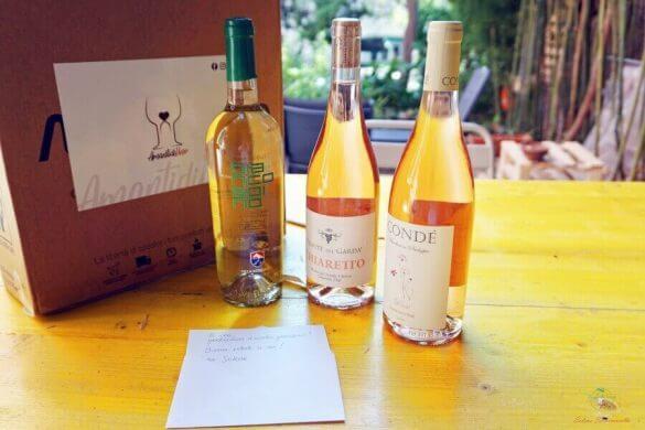 bottiglie di vini estivi acquistate sullo shop di amantidivino