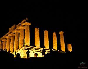 tempio di giunone di notte