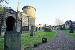 cimitero di old calton burial, dove è seppellito david allen