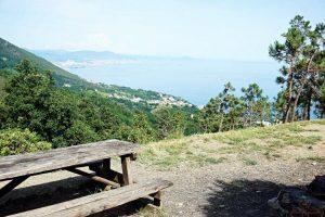 area picnic del curlo ad arenzano