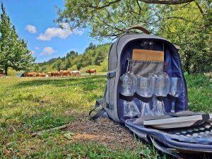 zaino picnic al lago di giacopiane