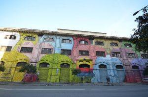 murales. tra le cose da vedere a roma gratis c'è la street art