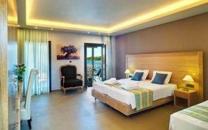 camera da letto dell'hotel filakas di sivota. Foto da Booking.com.