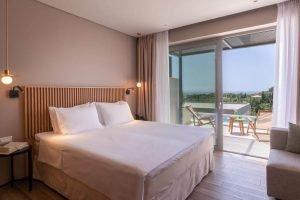 interno dell'hotel isola verde di sivota. Foto da Booking.com.