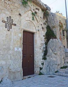facciata di santa lucia alle malve, una delle chiese di matera rupestri da vedere