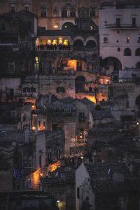 I vicoli di Matera di sera. Photo by massimo garanzelli on Unsplash