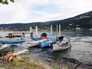 imbarcazioni attraccate all'isola dei pescatori