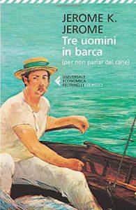 tre uomini in barca di jerome, uno dei libri sui fiumi. Foto da Amazon.com.